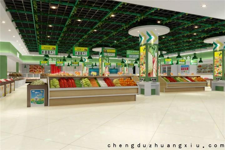 成都同仓万家购超市设计