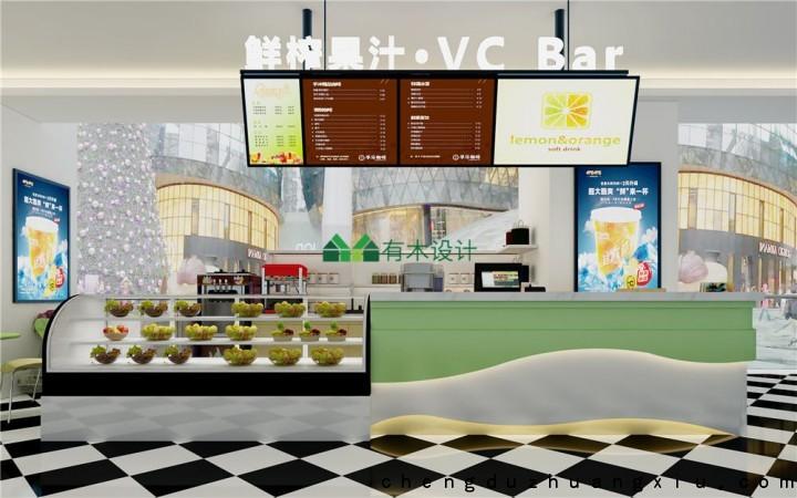成都鲜榨果汁店VCbar设计