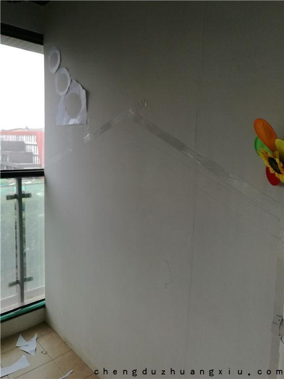 成都业主diy黑板漆过程
